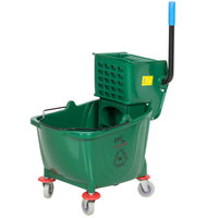 Lavex Janitorial 36 Qt. Green Mop Bucket & Wringer Combo