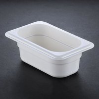 Cambro 92CW148 White Camwear 2 1/2 inch Deep One Ninth Size Food Pan