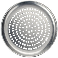 American Metalcraft HACTP14SP 14 inch Super Perforated Heavy Weight Aluminum Coupe Pizza Pan