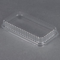 D&W Fine Pack 37564 Clear Dome Lid for 1 1/2 lb. Aluminum Foil Loaf Pan - 50 / Pack