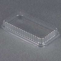 D&W Fine Pack 37564 Clear Dome Lid for 1 1/2 lb. Aluminum Foil Loaf Pan - 50/Pack