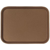 Cambro 1418FF167 14 inch x 18 inch Brown Customizable Fast Food Tray - 12/Case