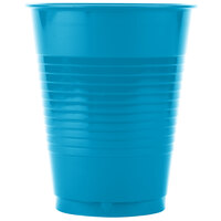 Creative Converting 28313181 16 oz. Turquoise Blue Plastic Cup - 20 / Pack