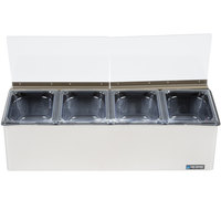 San Jamar FP8244FL EZ Chill Self Service Condiment Center with 4 Pans