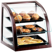 Cal-Mil P255-52S Westport Three Tier Euro Style Wood Trim Display Case with Front Door - 17 inch x 17 inchx 18 inch