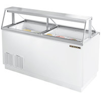 True TDC-67 67 inch Straight Glass Ice Cream Dipping Cabinet
