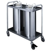 APW Wyott Lowerator TL2-9A/12A Trendline Mobile Adjustable Unheated Two Tube Dish Dispenser for 3 1/2 inch to 11 7/8 inch Dishes