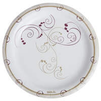 Dart Solo MP9-J8001 8 1/2 inch Medium Weight Paper Plate with Design - 500/Case