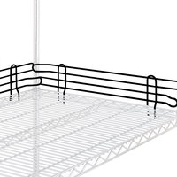 Metro L21N-4-DBM Super Erecta Black Matte Stackable Ledge 21 inch x 4 inch