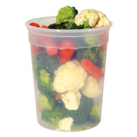 Newspring L5032Y 32 oz. Clear Round Deli Container 480 / Case