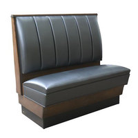 American Tables & Seating AS-366-D Single Deuce 6 Channel Back Upholstered Booth - 36 inch High