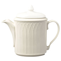 Homer Laughlin 7000-0325 Gothic American White (Ivory / Eggshell) Undecorated Replacement Body for 23 oz. Beverage Server - 12/Case