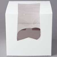 Southern Champion Window Cupcake Box with Insert 4 1/2 inch x 4 1/2 inch x 4 1/2 inch - 10/Pack