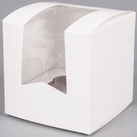 Window Cupcake Box with Insert 4 1/2 inch x 4 1/2 inch x 4 1/2 inch - 10 / Pack