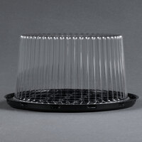 D&W Fine Pack G21 7 inch 2-3 Layer Cake Display Container with Clear Dome Lid - 100 / Case