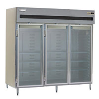 Delfield SMR3-G 80 Cu. Ft. Three Section Glass Door Reach In Refrigerator - Specification Line