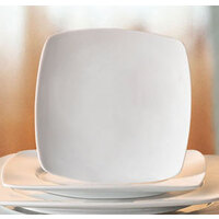 CAC RCN-FS16 Bright White Clinton Flat Plate 10 1/2 inch Square - 12/Case
