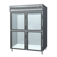 Delfield SSF2-GH Stainless Steel 52 Cu. Ft. Two Section Glass Half Door Reach In Freezer - Specification Line