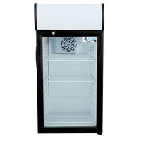 Avantco SC-80 Black Countertop Display Refrigerator with Swing Door - 2.7 cu. ft.