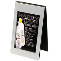 Menu Solutions CHMT-A Double View Aluminum Menu Tent with Brushed Finish - 4 inch x 6 inch