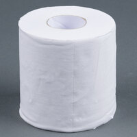 Lavex Janitorial Individually-Wrapped 1-Ply Standard 1000 Sheet Toilet Paper Roll - 96 / Case