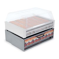 Nemco 8075-BW-220 Moist Heat Hot Dog Bun Warmer for 8075 Series Roller Grills - Holds 64 Buns