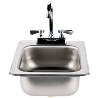 Advance Tabco DI-1-5 Drop In Stainless Steel Sink 5 inch Deep
