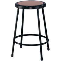 National Public Seating 6224 Black 24 inch Hardboard Round Lab Stool
