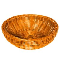 GET WB-1512-OR 11 1/2 inch x 3 1/2 inch Designer Polyweave Orange Round Basket - 12/Case