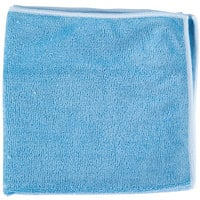 Unger MF40B SmartColor MicroWipe 16 inch x 15 inch Blue Heavy-Duty Microfiber Cleaning Cloth