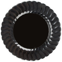 "Fineline Flairware 209-BK 9"" Black Plastic Plate - 180/Case"