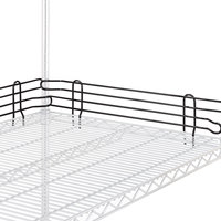 Metro L21N-4BL Super Erecta Black Stackable Ledge 21 inch x 4 inch
