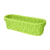 GET WB-1507-G 10 inch x 4 3/4 inch x 3 inch Designer Polyweave Green Rectangular Basket - 12 / Case