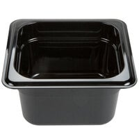 Carlisle 3068403 StorPlus 1/6 Size 4 inch Deep Food Pan - Black