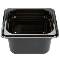 Carlisle 3068403 StorPlus 1/6 Size Black Food Pan - 4 inch Deep