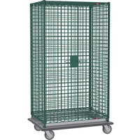 Metro SEC53LK3 Metroseal 3 Mobile Heavy Duty Wire Security Cabinet - 38 1/2 inch x 28 1/16 inch x 68 1/2 inch