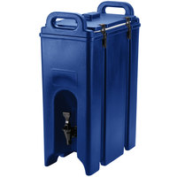 Cambro 500LCD186 Navy Blue 4.75 Gallon Camtainer Insulated Beverage Dispenser