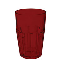 GET 9910-1-R 10 oz. Red Break-Resistant Plastic Bahama Tumbler - 72 / Case