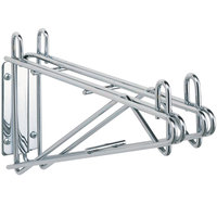 Metro 2WD21C Super Erecta Chrome Double Direct Wall Mount Bracket for Adjoining 21 inch Shelves