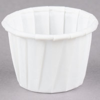 Dart Solo 075 .75 oz. White Paper Souffle / Portion Cup 250/Box