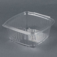Genpak AD64 8 inch x 8 1/2 inch x 3 1/4 inch 2 Qt. Clear Hinged Deli Container - 200 / Case