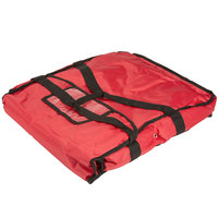 American Metalcraft PBDX2005 20 inch x 20 inch x 5 inch Deluxe Insulated Red Pizza Delivery Bag