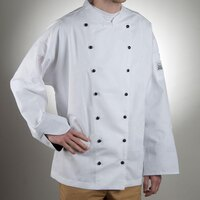 Chef Revival J013-M Chef-Tex Size 42 (M) Customizable Poly-Cotton Executive Chef Jacket