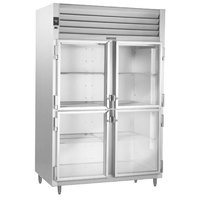 Traulsen RHT226WUT-HHG Stainless Steel 40.8 Cu. Ft. Two Section Glass Half Door Shallow Depth Reach In Refrigerator - Specification Line