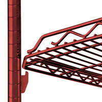Metro HDM2448Q-DF qwikSLOT Drop Mat Flame Red Wire Shelf - 24 inch x 48 inch