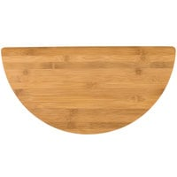 American Metalcraft BAMHM Half Moon Bamboo Platter - 18 inch x 9 inch
