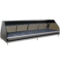 Alto-Shaam ED2-96/PR BK Black Heated Right Display Case with Curved Glass - Right Self Service 96 inch