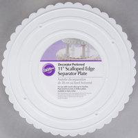 Wilton 302-11 Decorator Preferred Round Scalloped Edge Cake Separator Plate - 11 inch