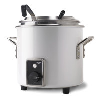 Vollrath 7217250 Pearl White Finish Retro 11 qt. Stock Pot Kettle Rethermalizer - 120V, 1450W