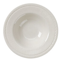 5.5 oz. Ivory (American White) Embossed Rim China Grapefruit Bowl / Dish - 36/Case